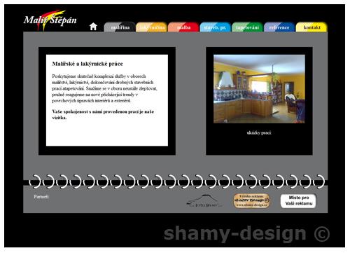 webdesign malíř